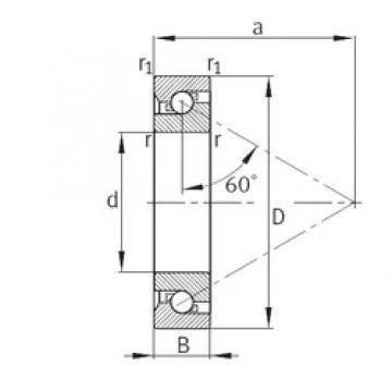 65 mm x 140 mm x 33 mm  FAG 7603065-TVP thrust ball bearings