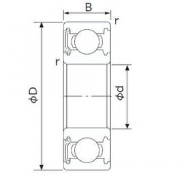 50 mm x 90 mm x 20 mm  NACHI 6210NKE deep groove ball bearings