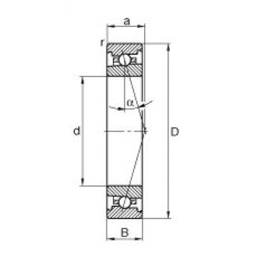 50 mm x 80 mm x 16 mm  FAG HS7010-C-T-P4S angular contact ball bearings
