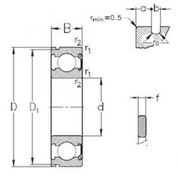 50 mm x 90 mm x 20 mm  NKE 6210-Z-NR deep groove ball bearings
