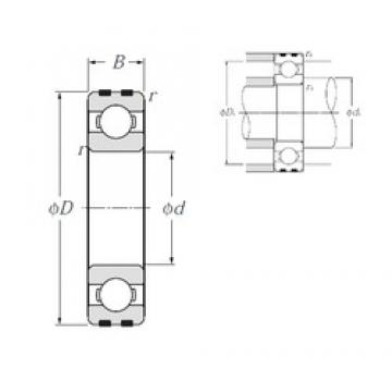 17 mm x 40 mm x 12 mm  NTN EC-6203 deep groove ball bearings