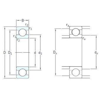 50 mm x 90 mm x 20 mm  SKF 6210-2RS1/HC5C3WT deep groove ball bearings