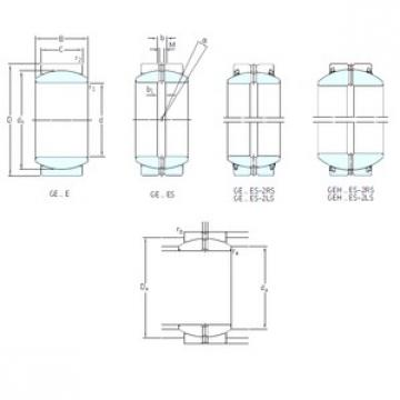 30 mm x 47 mm x 22 mm  SKF GE30ES-2RS plain bearings