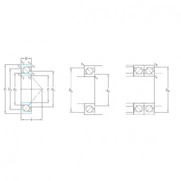 110 mm x 240 mm x 50 mm  SKF 7322BECBY angular contact ball bearings
