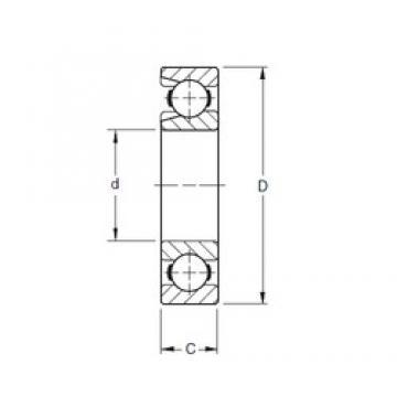 65 mm x 140 mm x 33 mm  Timken 313W deep groove ball bearings