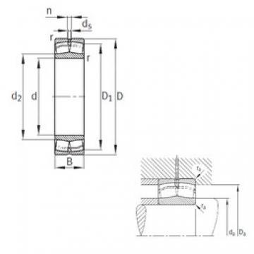 190 mm x 400 mm x 132 mm  FAG 22338-MB spherical roller bearings