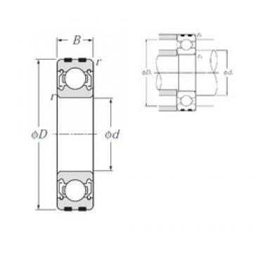 50 mm x 80 mm x 16 mm  NTN EC-6010ZZ deep groove ball bearings