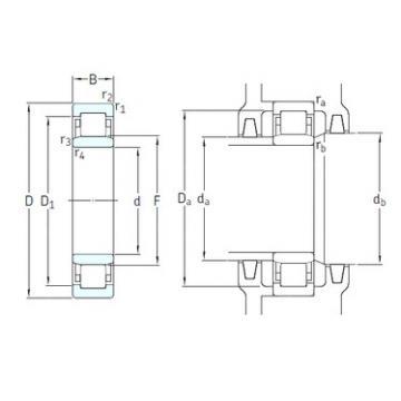 65 mm x 140 mm x 33 mm  SKF NU313ECM/HC5C3 cylindrical roller bearings