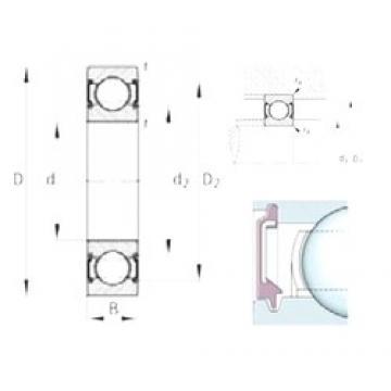 17 mm x 40 mm x 12 mm  FAG 6203-C-2BRS deep groove ball bearings