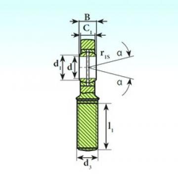 17 mm x 30 mm x 14 mm  ISB SA 17 ES plain bearings