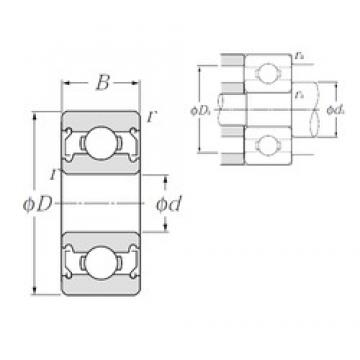6,35 mm x 15,875 mm x 4,978 mm  NTN R4ZZ deep groove ball bearings