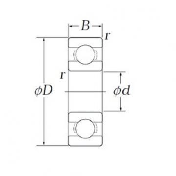 6,35 mm x 15,875 mm x 4,978 mm  KOYO EE11/2 deep groove ball bearings