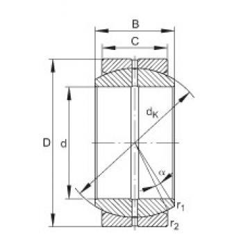 INA GE17-DO plain bearings