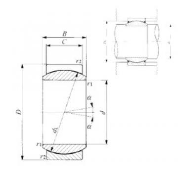 30 mm x 47 mm x 22 mm  IKO GE 30EC plain bearings