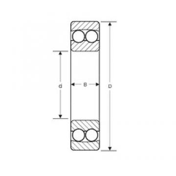 50 mm x 90 mm x 20 mm  SIGMA 1210 self aligning ball bearings