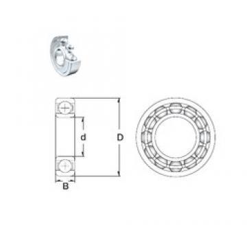 90 mm x 190 mm x 43 mm  ZEN 6318-2Z deep groove ball bearings