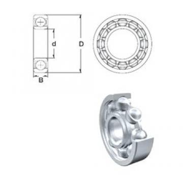 6,35 mm x 15,875 mm x 4,978 mm  ZEN R4-2Z deep groove ball bearings