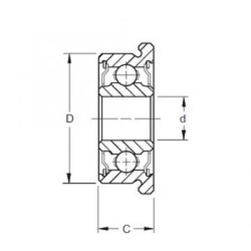 6,35 mm x 15,875 mm x 4,978 mm  ZEN FR4 deep groove ball bearings