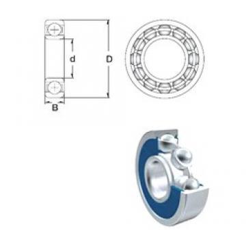 90 mm x 190 mm x 43 mm  ZEN 6318-2RS deep groove ball bearings