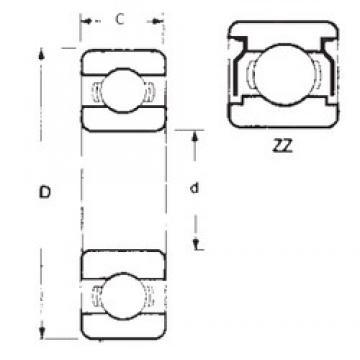 50 mm x 90 mm x 20 mm  FBJ 6210ZZ deep groove ball bearings