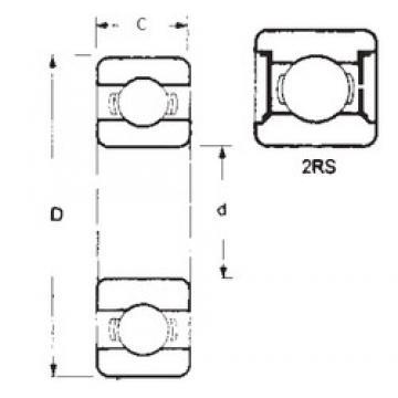 90 mm x 190 mm x 43 mm  FBJ 6318-2RS deep groove ball bearings