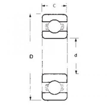 90 mm x 190 mm x 43 mm  FBJ 6318 deep groove ball bearings