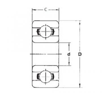 6,35 mm x 15,875 mm x 4,978 mm  FBJ R4 deep groove ball bearings