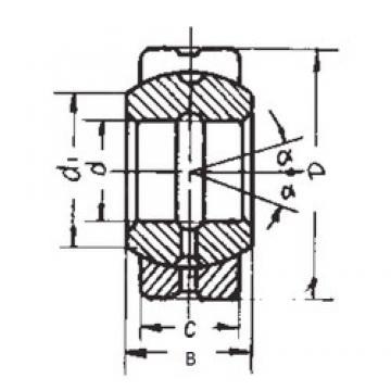 17 mm x 30 mm x 14 mm  FBJ GE17ES plain bearings