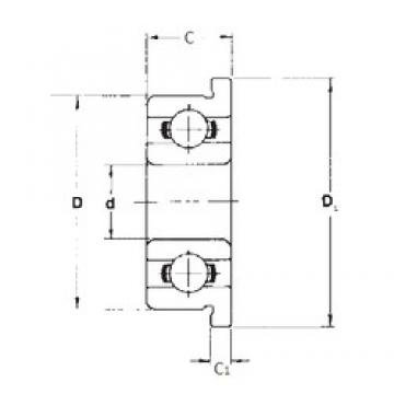 6,35 mm x 15,875 mm x 4,978 mm  FBJ FR4 deep groove ball bearings