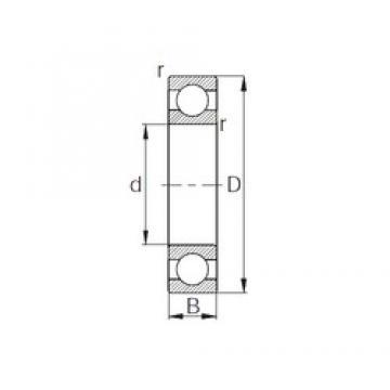 65 mm x 140 mm x 33 mm  CYSD 6313 deep groove ball bearings