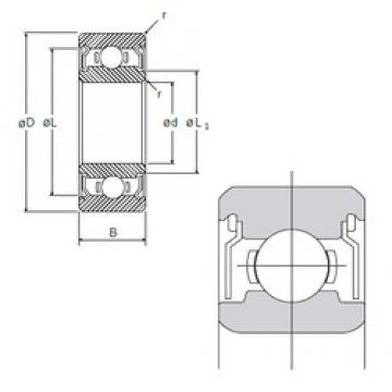 4 mm x 9 mm x 4 mm  NMB L-940ZZ deep groove ball bearings