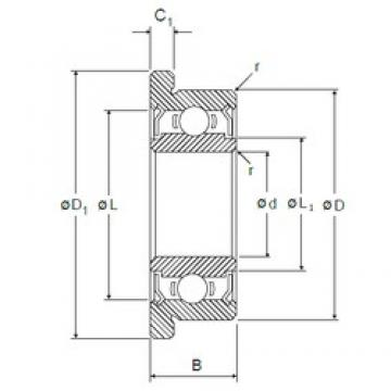 6,35 mm x 15,875 mm x 4,978 mm  NMB RF-4DD deep groove ball bearings