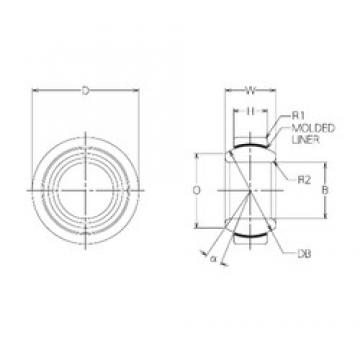 17 mm x 30 mm x 14 mm  NMB BM17 plain bearings
