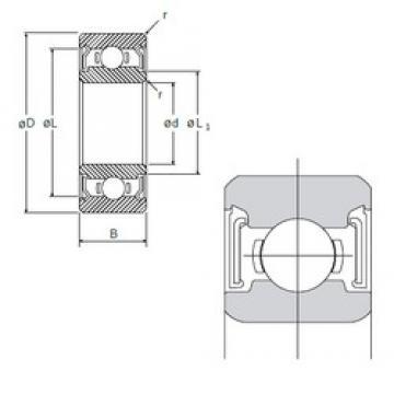 6,35 mm x 15,875 mm x 4,978 mm  NMB R-4SS deep groove ball bearings
