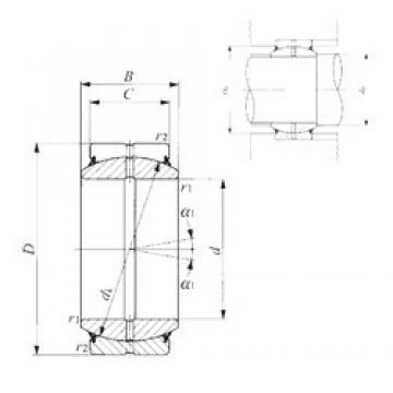 30 mm x 47 mm x 22 mm  IKO GE 30ES-2RS plain bearings