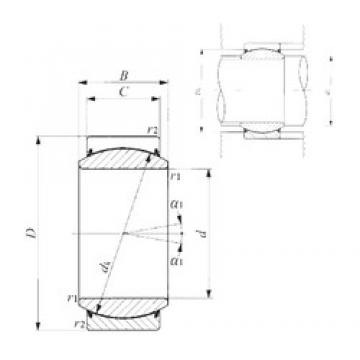 30 mm x 47 mm x 22 mm  IKO GE 30EC-2RS plain bearings