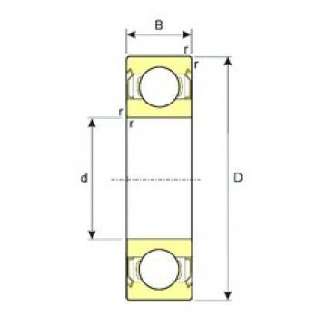 6,35 mm x 15,875 mm x 4,978 mm  ISB R4ZZ deep groove ball bearings