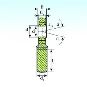 17 mm x 30 mm x 14 mm  ISB SA 17 C plain bearings