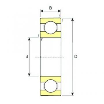6,35 mm x 15,875 mm x 4,978 mm  ISB R4 deep groove ball bearings