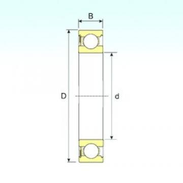 50 mm x 80 mm x 16 mm  ISB 6010-RS deep groove ball bearings