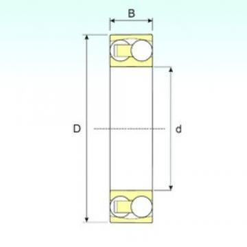 90 mm x 190 mm x 43 mm  ISB 1318 self aligning ball bearings
