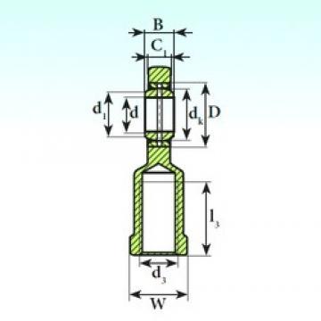17 mm x 30 mm x 14 mm  ISB SI 17 ES 2RS plain bearings