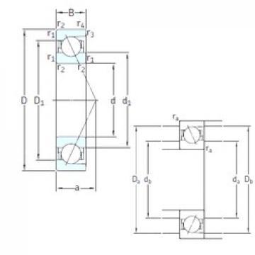 17 mm x 40 mm x 12 mm  SNFA E 217 7CE1 angular contact ball bearings