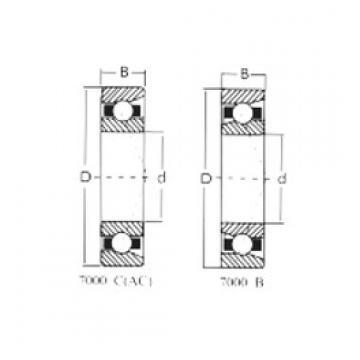 90 mm x 190 mm x 43 mm  Loyal 7318C angular contact ball bearings