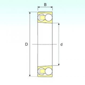 90 mm x 190 mm x 43 mm  ISB 1318 K self aligning ball bearings