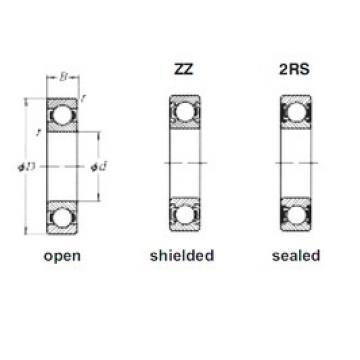 90 mm x 190 mm x 43 mm  Loyal 6318-2RS deep groove ball bearings