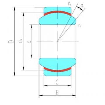 30 mm x 47 mm x 22 mm  LS GE30N plain bearings