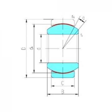 17 mm x 30 mm x 14 mm  LS GE17ET/X plain bearings