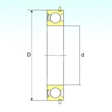 50 mm x 90 mm x 20 mm  ISB 6210-ZNR deep groove ball bearings