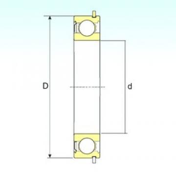 65 mm x 140 mm x 33 mm  ISB 6313-ZNR deep groove ball bearings
